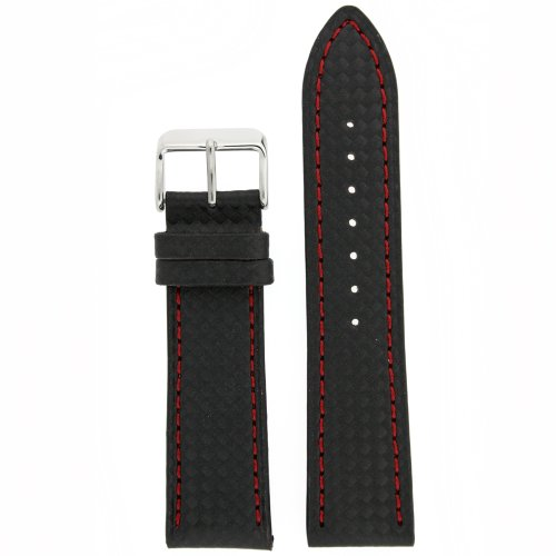 ber Black Red Stitching Water Resistant 20 millimeter ()