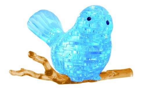 Bepuzzled Original 3D Crystal Puzzle - Bird - Fun yet challenging brain teaser that will test your skills and imagination, For Ages ()