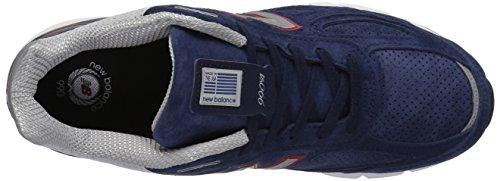 New Balance Men's 990v4 Running Shoe, Blue/Pigment Red, 7 D US by New Balance (Image #7)