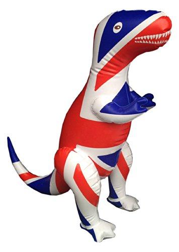 Inflatable Union Jack T-Rex Dinosaur souvenir