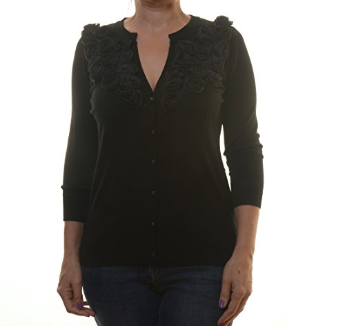 Cyrus 3/4 Sleeve Cardigan Black Size M (Cyrus 3/4 Sleeve Sweater)
