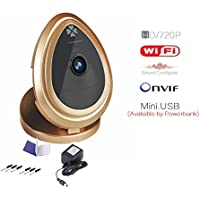 HD 720P Indoor Wireless Monitoring Smartphoneview Audio IP Network Camera Baby Monitor Gold