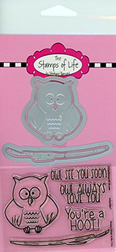 Bird Owl Stamp and Die Combo Pack for Scrapbooking and Card-Making by The Stamps of Life - Owl Pudgie