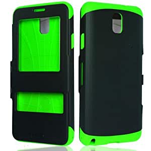Black Green Screen Cover Hard Case for Samsung Galaxy Note III 3 W6V6