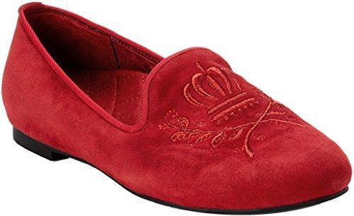 Pantofola Vionica Da Donna Romi Smoking Rossa
