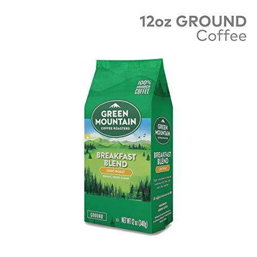 (Green Mountain Coffee Roasters, Breakfast Blend, 12 oz. Ground Bag, Light Roast Coffee, (3) Bags)
