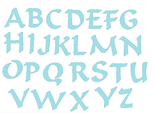 Self Adhesive Felt Letter Set - Sky Blue
