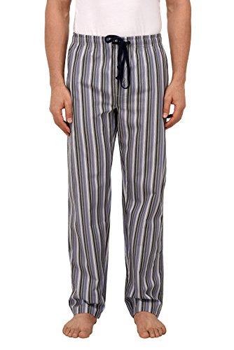 Vie De Rêve New York Men's Cotton Plaid/Print Sleepwear Lounge Wear Pajama Pants (Stripe, L) - Stripe Pajama Pants Sleepwear
