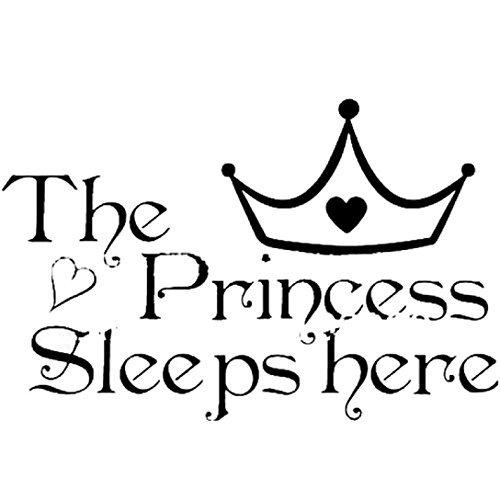 BestNow The Princess Wall Stickers Sleeps Here Home Decorati