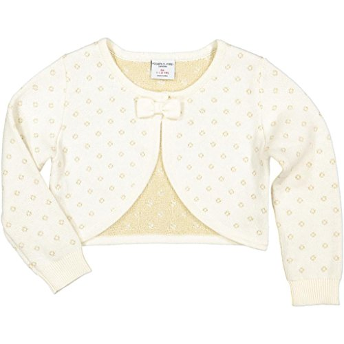 Polarn O. Pyret Shrug Sparkle Cardigan (Baby) - 1-1.5 Years/Egret (Sweater Metallic Sparkle)