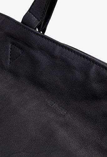 BREE - Bolso de asas para mujer Beige natural 38 cm x 40 cm x 14 cm (B x H x T) negro