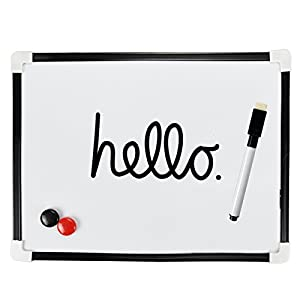 ASAB A4 Dry Wipe Magnetic Whiteboard Mini Office Notice ...