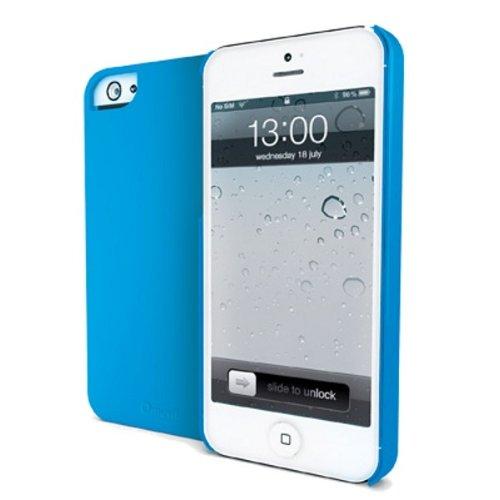 Muvit Mubkc0592 iGum gummibeschichtung Backcover für Apple iPhone 5 blau