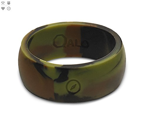 QALO Men's Camo Classic Outdoors Silicone Ring Size 11