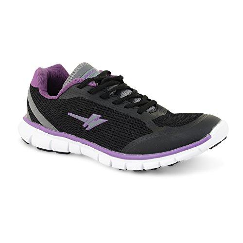 Femmes Casual Gola Chaussures Pour Sport Gris Dames Violet Formateurs Chaussures Course De Gym Tailles Jogging Noir Uk De zwfxnRqg7