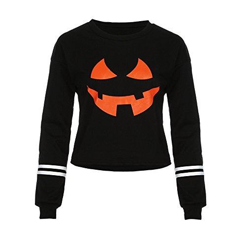 HomeMals Halloween Pumpkin Sweatshirts Slouchy Shirts Pumpkin Long Sleeve Pullover for Women