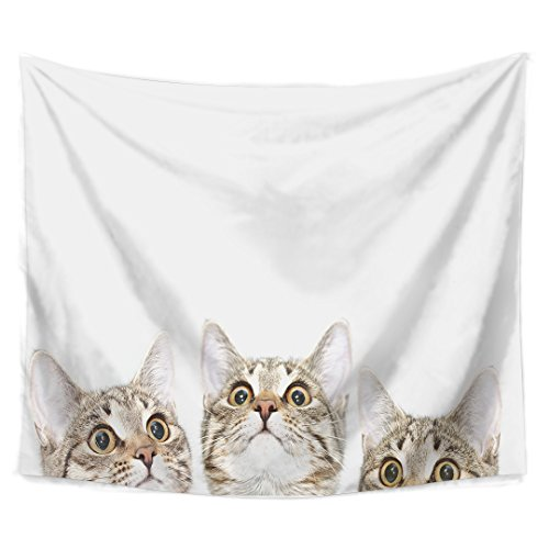 Tapestry Lovely Cats Wall Hangings Wall Blanket Art Dorm Shawl Beach Towel Throw Tapestry Decor Bedspread Bedroom Living Kids Girls Boys Room Dorm Accessories