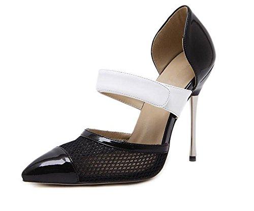 Chaussures à talons hauts pointues pour femmes , black , 38