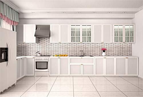 Yeele 10x6.5ft Photography Background Modern Kitchen Cook Cooker Closet Teapot Fire Place Frigerator Disinfection Cabinet Wedding Room New Home Vlogger Blog Vinyl Studio Photo Backdrop Wallpaper -