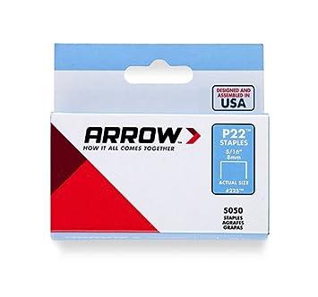 Arrow Fastener 225 Genuine P22 5/16-Inch Staples, 5,050-Pack