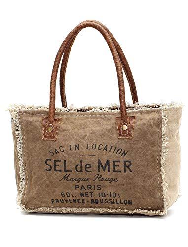 Myra Bags Sel De Mer Upcycled Canvas Hand Bag - Slip Myra