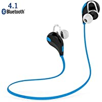 Gain COOLEAD® Bluetooth 4.1 Wireless Sports In-ear Stereo Headphone with Sweatproof Earbuds(Blue) wholesale
