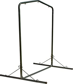 Pawleys Island Deluxe Steel Textured Swing Stand, Forest Green