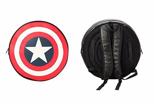 Marvel Comics Captain America Black Backpack/Shield -