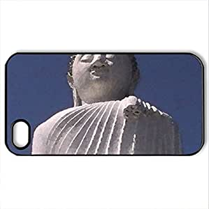 Big Buddha - Case Cover for iPhone 4 and 4s (Religious Series, Watercolor style, Black)