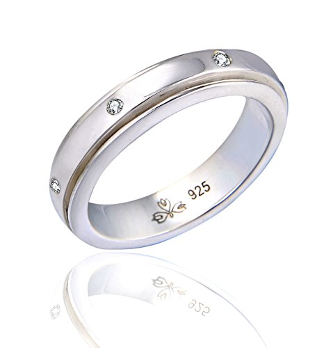 "Energy Stone ""SMALL DIPPER"" 7 Stars Sterling Silver Meditation Spinner Ring (Style# US54 )"
