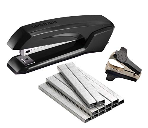 Bostitch Ascend 3 in 1 Stapler with Integrated Remover & Staple Storage, Value Pack with Staples & Remover, Assorted Colors (B210-CC) (Disposable Staple Gun)