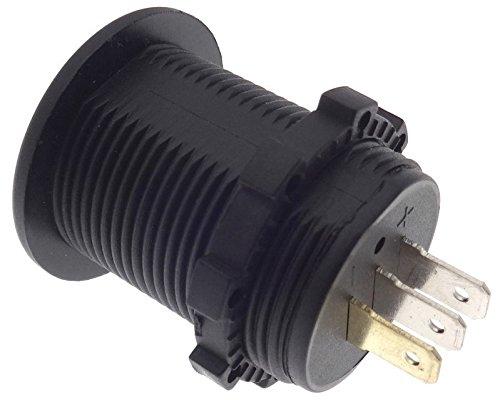 Einbau Voltmeter Amperemeter GR/ÜN Batterie Tester Anzeige PKW Motorrad 12//24 V A