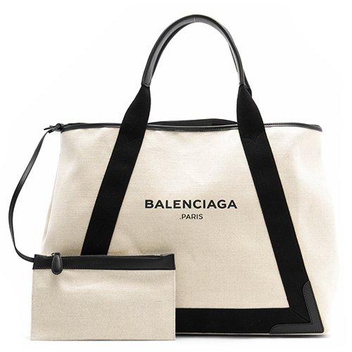 バレンシアガ BALENCIAGAトートバッグハンドバッグレディース大容量バック ポーチ付きコットンキャンバス [並行輸入品]