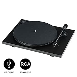 "Pro-Ject Primary Phono USB Audiophile Plug & Play Turntable with 8.6"" Aluminum Tonearm (Matte Black)"