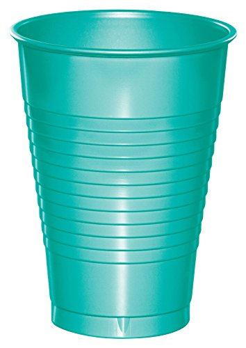 Creative Converting Cups, 12 oz, Teal Lagoon