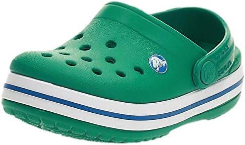 Crocs Kids' Crocband Clog, Green (Deep