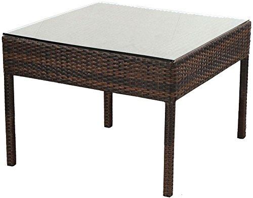Alfresco Home Logan Wicker Bunching Table, Powdercoated Steel Frame ()