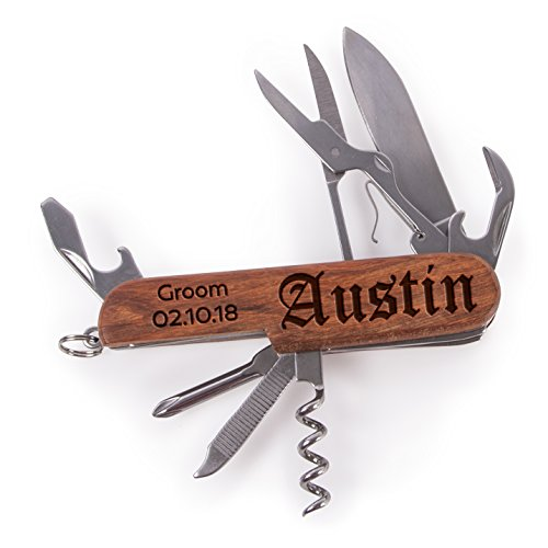 Amazing Items Personalized Multi Tool Pocket Knife For Groomsman, Best Man, Custom Name, And Date (1)