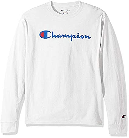 3 Piece Bundle Includes 2 Shirts Free BE Bold Gym Tote Bag Genie Outlet Champion Mens Classic Jersey Script T Shirt