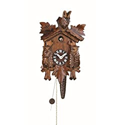 Trenkle Quarter Call Cuckoo Clock with 1-Day Movement Three Leaves TU 621 nu
