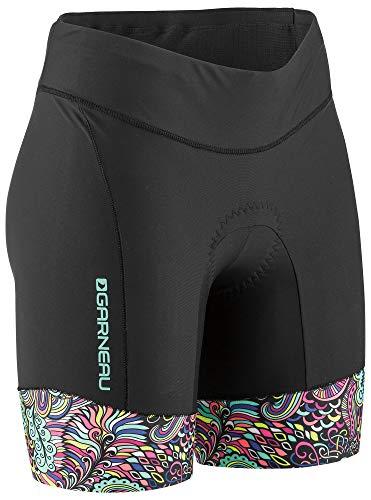 Padded Triathlon Shorts - Louis Garneau Women's Pro 6 Carbon Padded Triathlon Shorts with Pockets, Expressionist, X-Small
