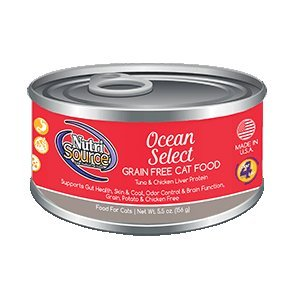 Nutri Source Grain Free Ocean Select Canned Cat Food 12/5.5oz Case