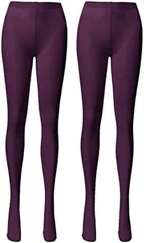7c78c3a0843f9 OSABASA 27 Colors - Women's 80 Denier Semi Opaque Solid Color Footed Pantyhose  Tights 2Pair