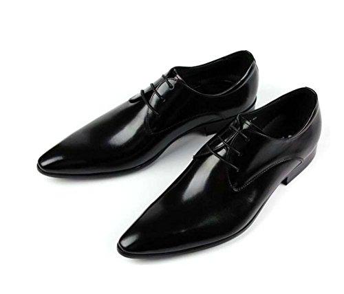 de Zapatos Color Vestir Zapatos Punta Negocios de Zapatos Encaje de de Trabajo de 37 de los Negro Zapatos 42 de Moda Hombres Tamaño Yardas x6ncqpYRZ