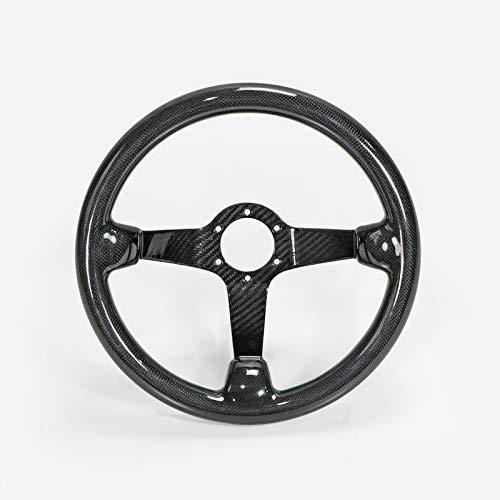 EPR Car Styling Body Kits Deep Dish Type Glossy Dry Carbon Steering Wheel (335mm Diameter, deep Around 60mm, 6 Bolts 70mm ()