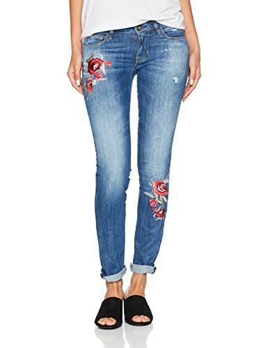 Kale Guess Slim Femme Jean Starlet Multicolore Embroidery 8Xv70fXq