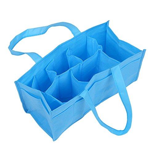 Baby Boy Girl Diaper Nappy Mother Bag Portable Handbag (Blue) - 4
