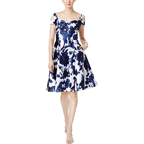 Adrianna Papell Womens Irridescent Faille