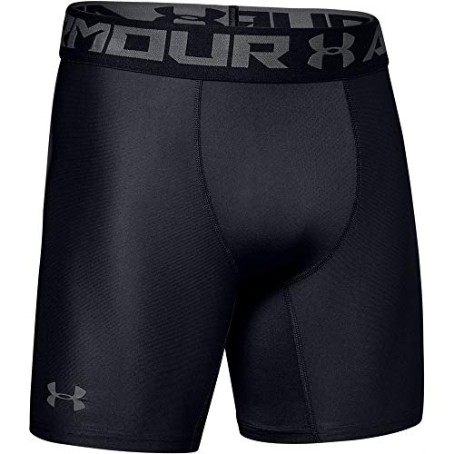 Under Armour Men's HeatGear Armour 2.0 6-inch Compression Shorts, Black (001)/Graphite, X-Large