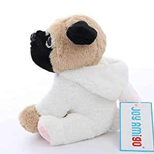 Stuffed Pug Dog Puppy Soft Cuddly Animal Toy in Costumes - Super Cute Quality Teddy Plush 10 Inch (Bunny)